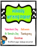 Holiday Writing Paper Bundle {46 Pages} Valentine's Day, Halloween, Christmas...