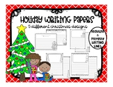 Holiday Writing Papers - 5 designs