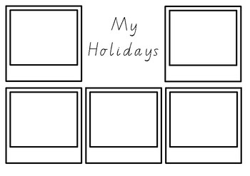 Holiday Writing Picture Template