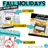 Holiday Writing Projects: Halloween, Thanksgiving, Christmas