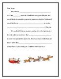 'Dear Santa' Holiday Writing Prompt Handout