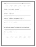 Holiday Writing Prompt with Christmas Themed Sentence Starters