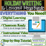 HOLIDAY WRITING PROMPTS MEGA BUNDLE!!  29 Lessons!!! - Mid
