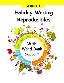 Holiday Writing Reproducibles with Word Bank Grades 1st, 2