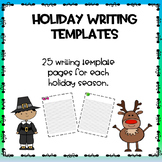 Holiday Writing Templates