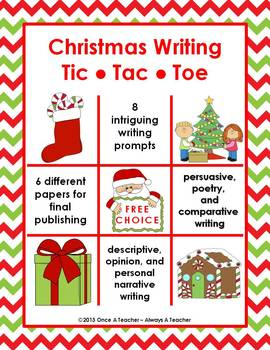 Holiday Writing - Tic Tac Toe Bundle