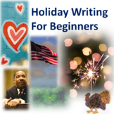 Holiday Writing for Beginners--Differentiated