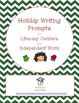 Common Core Holiday Writing for Literacy Centers or Indepe