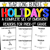 Holiday Year Long Bundle of Easy Emergent Readers