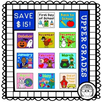 Math and Literacy activities HOLIDAY BUNDLE! {upper grades}