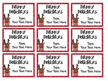 Editable Christmas Labels.Holiday And Christmas Gift Tags Editable Freebie