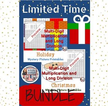 Holiday and Christmas Math Bundle