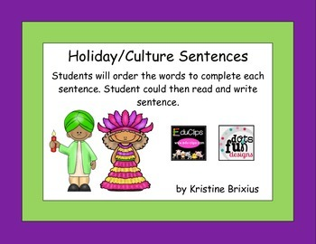 Holiday and Culure Sentences