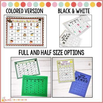 Holiday and Season Sight Word Bingo {BUNDLE}