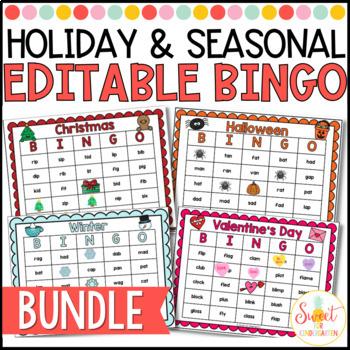Holiday and Season Sight Word Bingo {BUNDLE}