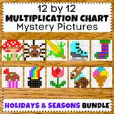 Holidays and Seasonal Multiplication Facts 1-12 Mystery Pi