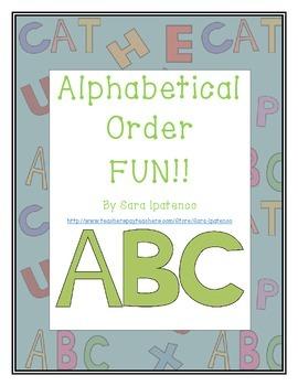 Alphabetical Order Packet Bundle: Holiday and Seasonal Themes