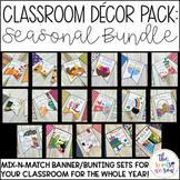 Holiday and Seasonal Classroom Decorations Bundle