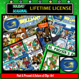 Holiday and Seasonal Clip-Art Lifetime License! Over 500+