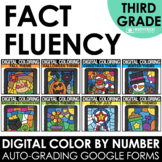 Digital Math Fact Fluency Digital Color by Code Multiplica