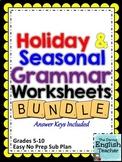 Holiday and Seasonal Grammar Bundle