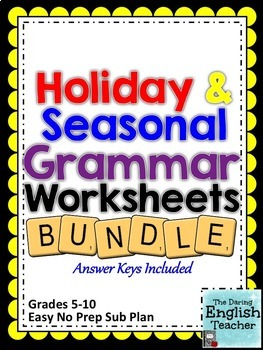 Holiday and Seasonal Grammar Bundle