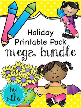 Holiday and Seasonal Printable Pack Mega-Bundle
