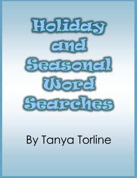 Holiday and Seasonal Word Searches