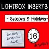 Holiday and Seasons Light Box Inserts