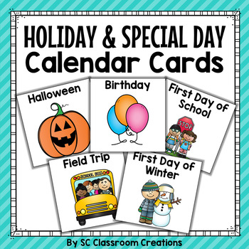 Holiday and Special Day Calendar Cards
