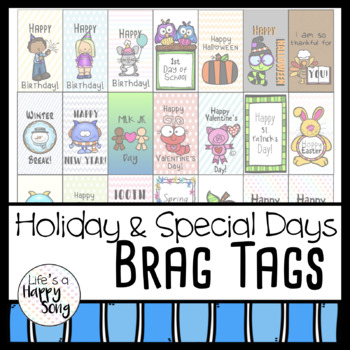 Holiday and Special Days Brag Tags