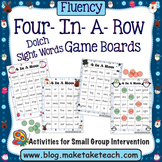 Dolch Sight Words- Winter Themed 4-In-A-Row Game Boards