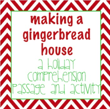 Holiday comprehension passage with questions and activity