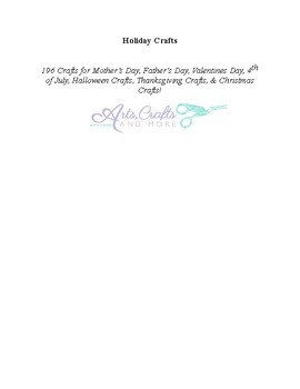 Holiday crafts : 196 crafts for Valentine's Day, Mother's Day, Father's Day 4t