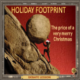 Holiday footprint –ESL adult power point debate conversation