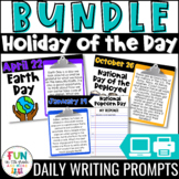 Holiday of the Day Writing Prompts Bundle   Morning Meeting   Daily Writing