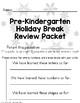Holiday or Winter Break Homework Packet