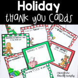 Holiday or Winter Thank You Cards