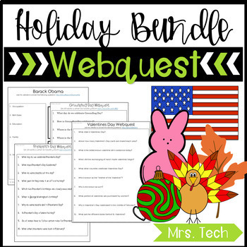 Holiday's Webquest Bundle