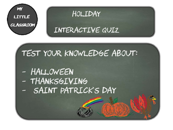 Holiday/seasonal interactive quiz (pdf)