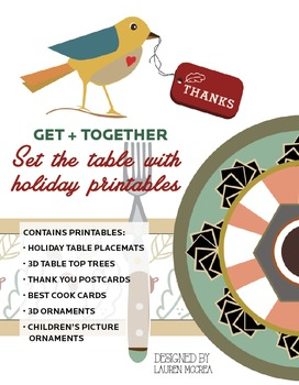 Set the table with holiday party printables