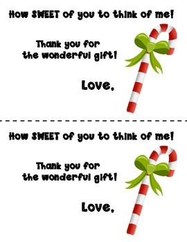 Free Holiday Thank You Note