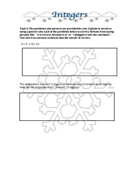 Holiday theme differentiated integer operations