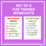 Holiday themed workouts - for use in PT, OT, SLP or in the