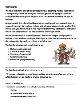 Holiday treats sign up