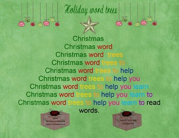 Holiday  word trees