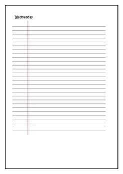 Holiday writing journal