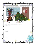 Holiday writing prompts, parts of speech, picture hunt!