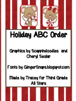 Holiday/Christmas ABC Order
