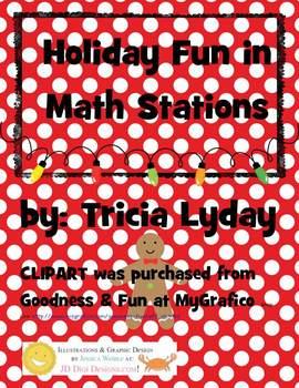 Holiday/Christmas Fun Math Stations